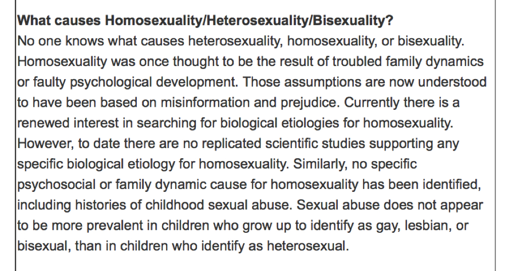 is homosexuality biological based